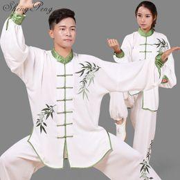 Uniforme de mujer de tai chi online-Chino tradicional bruce ropa mujeres uniforme de kung fu tai chi uniformes trajes de artes marciales tai chi ropa CC163