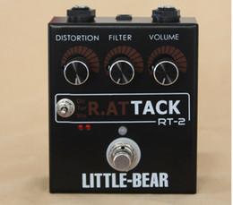 Effet pédale pour basse en Ligne-Livraison gratuite Little Bear 3 RAT Guitare Basse Distorsion Effet Effet Stomp Box Pedal LM308AN