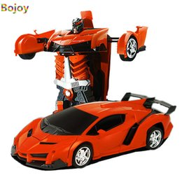 Wholesale Toys For Kids Car - Remote Control Transformation Robot RC Car Sports Car Models Deformation RC Toys for Kids boy Children's Birthday Gifts