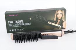 Автоматический массажер онлайн-100% подлинный выпрямитель для волос lescolton электрический выпрямитель для волос расческа горячая утюг щетка авто быстрый инструмент для массажа волос