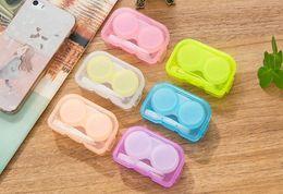 Contact lenses free shipping en Ligne-Livraison gratuite étui à lentilles de contact coloré 6 couleur boîte de lentilles de contact