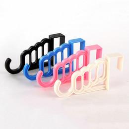 Wholesale Plastic Clothes Hangers Sale - Creative Candy Color Door Multi-purpose 5 Hooks Garments Non-Trace Back Garment Hanger Hook Hot Sale