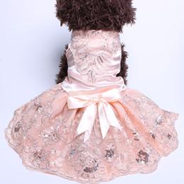 Цветы Кружева Собака Pet Свадебное Платье Юбка С Большой Лук Кошка Платья Щенка Наряд Вечеринка от Поставщики свадебные цветы