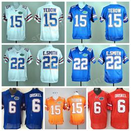 Wholesale ncaa orange - NCAA Florida Gators College 15 Tim Tebow Jersey Men 22 Emmitt Smith 6 Jeff Driskel Football Jerseys University Embroidery Blue Orange White