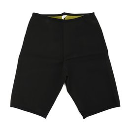 Wholesale Neoprene Slimming Shorts - Unisex Slimming Body Shapers Super Stretching Shorts Neoprene Fitness Sweat Shorts Weight Loss Burn Fat Sporters Wholesale