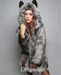 Moda para mujer Fox forma con capucha orejas Tail Faux Fur abrigo Topwear Coat envío gratis más el tamaño WT31 desde fabricantes