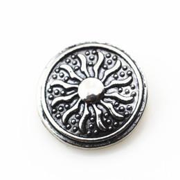 Wholesale Antique Snake Bracelet - Hot 10pcs lot Antique silver sun snap button 18mm DIY ginger snap bracelet&bangles charms snaps jewelry