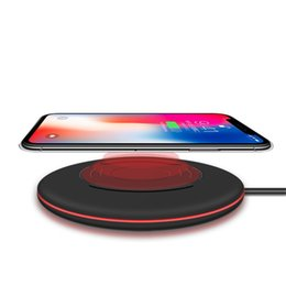 Wholesale Qi Standard - 2017 New QI Fast Charger for Iphone 8 Iphone X Samsung S8 For all QI standard phones Wireless Charging mobile pad WXC011 RF