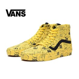 Wholesale printed cotton canvas fabric - VANS Vault X Peanuts Old Skool 2018 New Authentic Sk8-Hi Mens Designer Sports Shoes for Men Sneakers Women Brand Casual Trainers