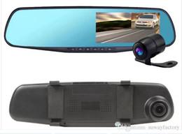 Wholesale Car Front Camera Monitor - New 4.3 inch 1080p HD mini car night vision car front and rear camera dual lens rear view camera