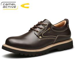Camel Active New Echtes Leder Männer Freizeitschuhe Luxusmarke 2018 Neu  Kommen Oxfords Schuhe Hohe Qualität Trendy Für Männer c033cf418b