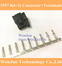 Wholesale Shell Connectors - 6+2 PIN 8Pin Male Housing for PC computer ATX graphics card GPU PCI-E PCIe Power Connector Shell Sliding Rail 5557 terminals pin