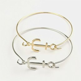 Wholesale Anchor Manufacturers - Free shipping Manufacturers selling Europe alloy bracelet openings all-match anchor bracelest fashion wholesale