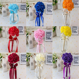 20 colori Bridal Wedding Bouquet Wedding Decoration Artificial Bridesmaid Flower Cheap Bride Holding Flower CPA1560 da