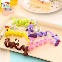 Wholesale Silicone Ear Clip - fashion strip animal bobbin winder ear mechanism storage line hub multi-function Cables to receive clip Bag clip