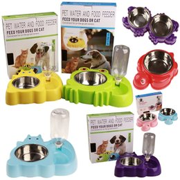 Wholesale Bowl Feeders Stainless - Stainless steel pet water and food feeder, pet automatic water bowl