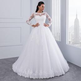 1650629b95b 2019 свадебные платья из органзы 2018 Элегантный Белый Органзы Линии Свадебные  Платья С Поясом Кружева Длина