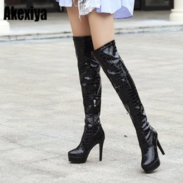 b44cccd587c 2019 Fashion Women Boots Over-the-Knee boots for women Flock ladies Long  Round Toe Sexy Winter Shoes size 34-43 y993
