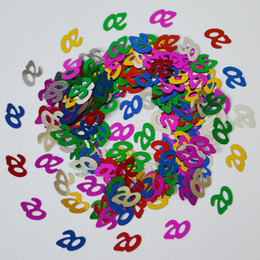 15g Multi Colors Mixed Happy Birthday Party Confetti Table Scatters Decorations Numbe Digital 13 16 18 20 21 30 40 50 60 70 80