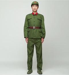 Canada Soldat nord-coréen Uniforme des gardes rouges vert performance costume scène film télévision Huit armée armée Outfit Vietnam Military cheap army uniforms Offre