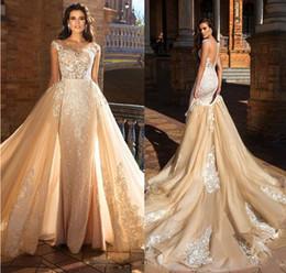 2019 vestido de novia moderno en capas de tul Vestidos de novia magníficos hechos a mano de manga corta desmontable vestido de bola Vestidos de novia Vestidos de novia Vestidos formales