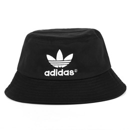 Wholesale adult bucket hats - Wholesale-2018 Summer Fashion Brand Woolen Bucket Hat Sun Striped HipHop AD Fisherman Cap Camouflage 3 color