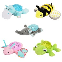 Wholesale Wells Toys - Baby Cartoon Projection Plush Toy Musical Soothing Calming Baby Toy Cute Projection Animal Doll for Infant Sleeping Well