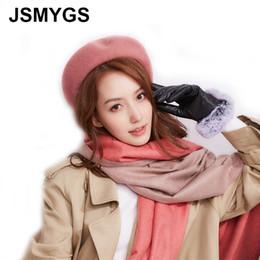 JSMYGS Sombrero de Lana de Color Sólido de Lana Sombreros de Invierno  Rosados Para Mujeres Gorra Plana para Mujer Otoño Boina Artista Francesa  Boinas Gris ... 87cbb792472