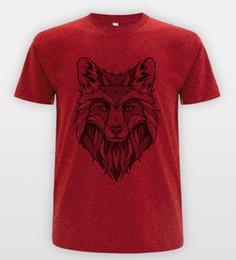 wolf art prints Coupons - Wolf Sketch Art T-shirt Sk8r Top Indie Vintage Skate Tumblr Drawing Tee funny 100% Cotton t shirt harajuku Summer 2018 tshirt