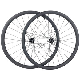 Wholesale Mtb Wheelset 29er - 29er MTB XC BOOST carbon wheels 30mm hookless 30mm deep clincher tubeless tyres 15X110 12X148 straight pull wheelset UD 3K 10s 11s XX1 12s