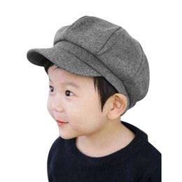 Wholesale Boys Toddler Fitted Caps - New Boy Girl Cute Infant Toddler Soft Beret Cap Dome Octagonal Hat Baseball Casquette P2