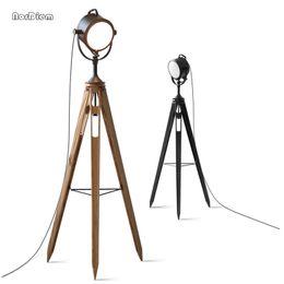 Lámparas de pie vintage online-Lámparas de pie de la vendimia Loft Machinery Industry lámpara de pie lámpara de trípode para la sala de estar Retro reflector de la lámpara E14