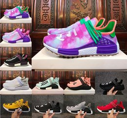 Wholesale R1 Race - 2018 new NMD R1 Human Race ALL white Pink black Equality Mint Green high quality men women sports shoes running shoes size 36-45