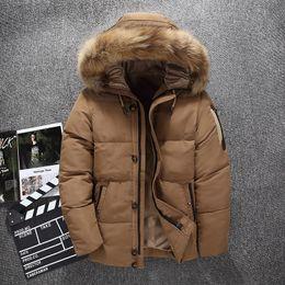 Дизайн колодки онлайн-Free Shipping Top Design Men Winter Down Coats White Duck Down Padded jacket For Man Casual Men's  Hooded Jackets