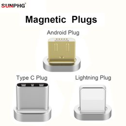 Wholesale blackberry magnet - SUNPHG 3in1 Magnetic Cable Plug Fast Charging Adapter Mobile Phone For iPhone For Android Type C Micro USB Magnet Charger Line Plugs