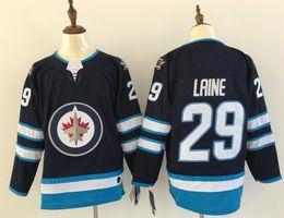 Wholesale vintage nhl - Winnipeg Jets jerseys Patrik Laine Dustin Byfuglien Blake Wheeler navy champion cheap hoodie vintage nhl hockey sports jersey 2018 women AD