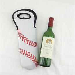 Wholesale cool gift wrap - Lily 1pcs Beer Wine Glass Single Neoprene Bottle Cooler Sleeves Holder Water Bottles Portable Cover Bag 750ml Capacity 5 8ny Z