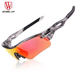 Capa de ciclismo impermeable online-WHEEL UP HD Polarized Cycling Glasses Recubrimiento Deportes al aire libre Gafas UV400 3 colores montando conducir bicicleta gafas