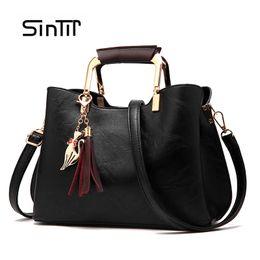 Wholesale More Metallic - SINTIR Brands More Color Tassel Handbag For Women High Capacity Quality Shoulder Bags Girls CrossBody Tote Party Bag Sac a Main