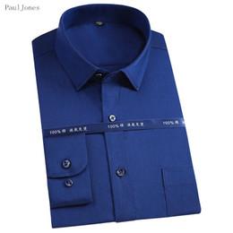 Wholesale Import Shirt - PAULJONES High Quality Twill Long Sleeve Men Cotton Shirts White Social Casual Dress Shirts China Brand Imported Men Clothing