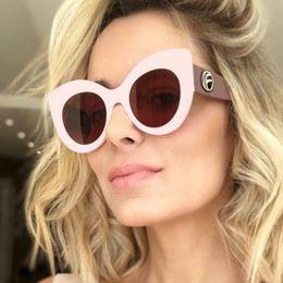 14d574cc94 wholesale 2018 New Big Frame Cat Eye Sunglasses Women Fashion Brand Hot Sun Glasses  Female Oversized Eyeglasses Summer Shades