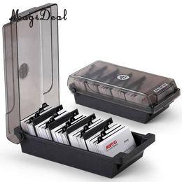 Wholesale file box storage organizer - Large Capacity Business Card Holder Box Business Card File Storage Box Organizer Index Storage 4 Divider Board
