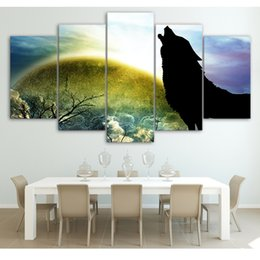 Wholesale guitar modern art painting - HD Modular Picture Canvas Print 5 Pieces Pcs Classical Guitar Frame Abstract Modern Painting Wall Art For Living Room Home Decor