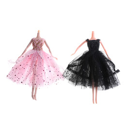 toy wedding dress Coupons - 1Set New Pink Black Handmade Skirt Princess Gown Wedding Dress Clothing Outfit Doll Accessories For Doll Accessories