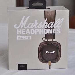 Wholesale Best Mic Headset - Best quality New Generation Brand Gaming Headset with Remote Mic Marshall Major II Black Headphones Marshall 2 Headphone