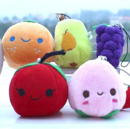 Ciondolo regalo Giocattoli varietà di frutta Verdure Bambole Mela Banana Ciondolo in peluche arancione Regali per eventi da lancio di nozze 5-10 cm Commercio all'ingrosso misto da