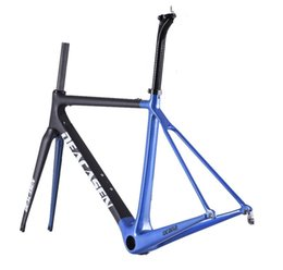 Wholesale bicycle bike clamps fork frame - 2018 Super Light T1000 Racing road Carbon Road Frame Bike Bicycle Cycling Sports Equipment Frame+Seatpost+Fork+Clamp+Headset carbon bicycle