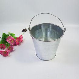 Wholesale Galvanized Metal Buckets Wholesale - New Cheap Metal Mini Pail Tin Bucket Barrel Pots Decorative Galvanized Iron Pots Conical Iron Bucket Party Favor