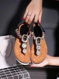 Wholesale unit flat - New Fashion Designer Women Sandals Women Channel Rhinestone Comfort Unit Flip Gladiator Sandals Women's Party Wedding Shoes
