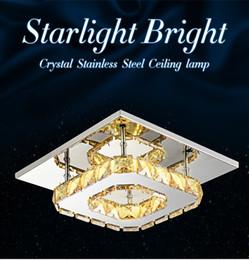 La moderna lámpara de techo de cristal K9 12W llevó la lámpara de techo, luz ámbar de brillo, 85-265V, para el comedor del hogar, luz de techo de acero inoxidable transparente desde fabricantes